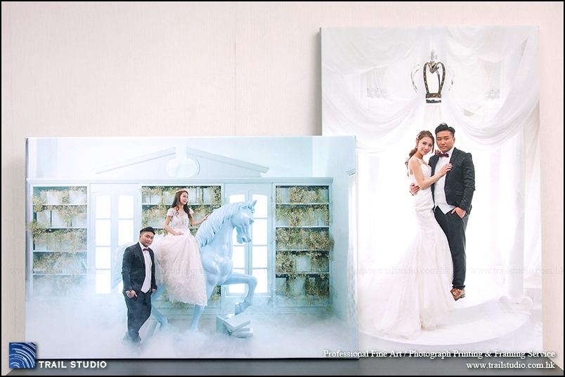 無框油畫相、結婚油畫製作服務